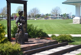 The Dummy Train: This sculpture honors and recognizes the importance of the railroad to the Ludington area.