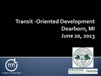 Dearborn Transit-Oriented Development
