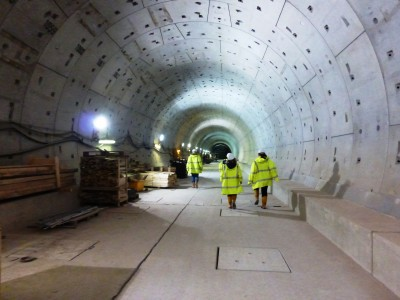 Walking through the soon-to-be subway extension