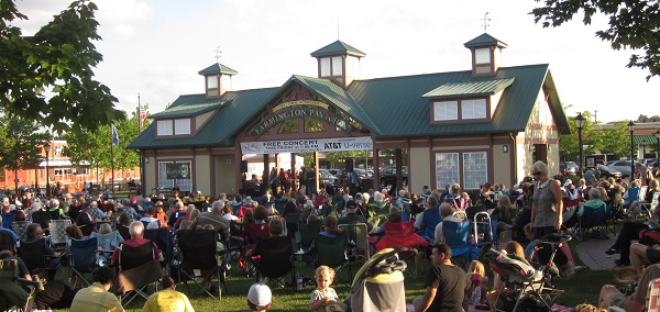 Farmington's weekly Summer Concert Series attracts a large audience to the city center.