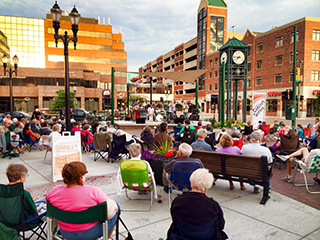 The newly renovated Ann Street Plaza in East Lansing.