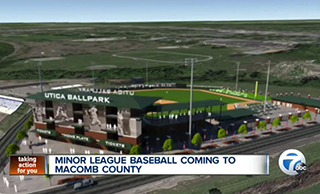 A rendering of the new ballpark in Utica.