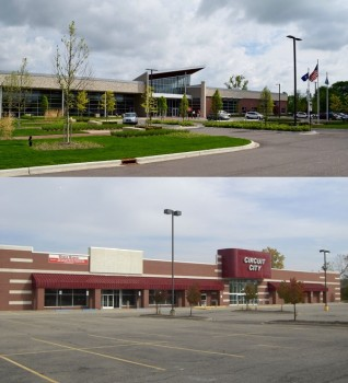 Big box stores can have second lives, as Westland's Circuit City to City Hall renovation, completed in 2014, demonstrates.