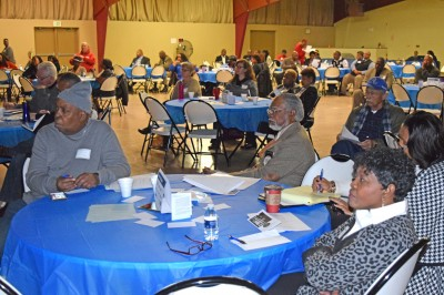 Huge crowd attends MBC-LEO forum on Race and Law Enforcement in Saginaw Saturday, Nov. 14, 2015.