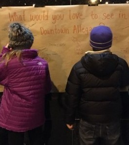 Visitors answer the question: What would you love to see in downtown Allegan?
