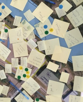 Attendees brainstormed hundreds of ideas during the event.