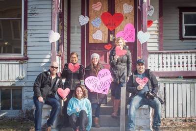 The Bay City heart bombing team (Photo courtesy Kristi Kozubel)